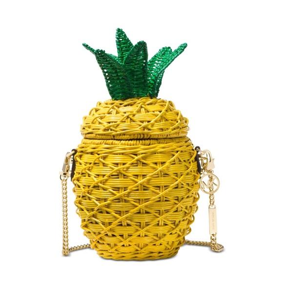 6c31f460f892 MICHAEL Michael Kors Bags | Straw Pineapple Crossbody Bag | Poshmark